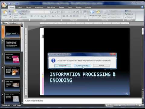Converting Power Point Slides to JPGs