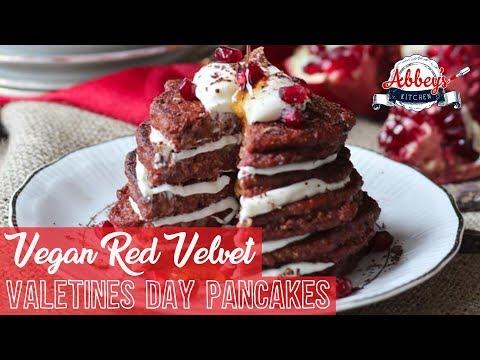 VEGAN Protein Red Velvet Pancakes | Valentine's Day | Breakfast | Gluten Free