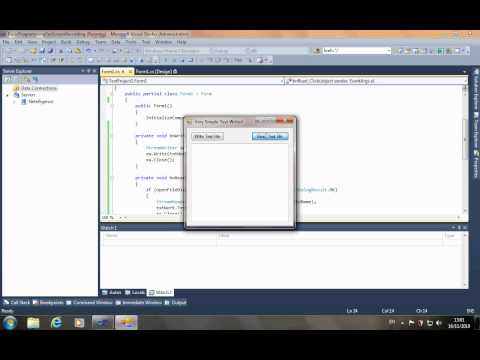 Software Recipes 4 - Using Dialog boxes with text files