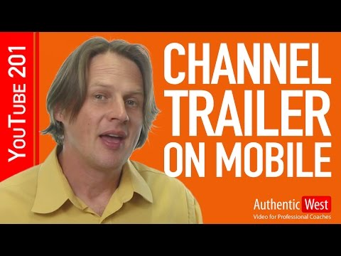 How to add a channel trailer on mobile (iPhone, iPad, Android)