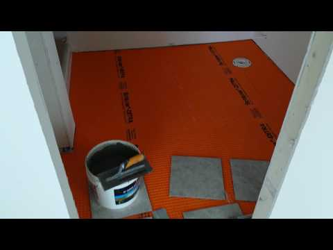 How to install tile over Schluter Ditra over concrete. Teppo Interiors; Tile install.