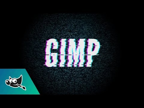GIMP Tutorial: Glitch Text Effect