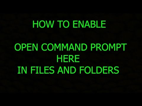 How To Enable Open Command Prompt Here IN Files And FOlders esy method - windows 10 only