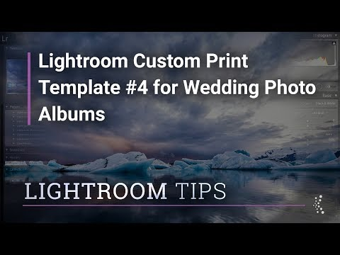 Lightroom Custom Print Template #4 for Wedding Photo Albums