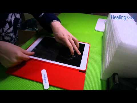 iPad Air2 - Applying tempered glass Screen Protector by Healingshield