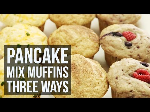 Pancake Mix Muffins Three Ways   Simple Customizable Muffin Recipe by Forkly