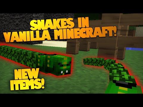 Minecraft Redstone | Snakes In Vanilla Minecraft! | Brand New Weapons & Armor! (Minecraft Redstone)