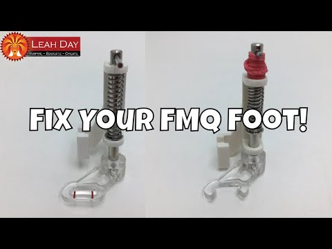 Fitting Your Free Motion Quilting / Darning Foot on Your Machine