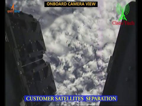 ISRO PSLV C40 Cartosat 2 Series Mission Liftoff Onboard Camera View   अंतरिक्ष में कैमरा फुटेज  