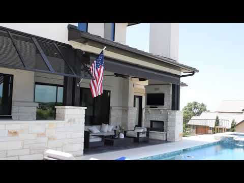 Retractable Awning Austin Bahama shutters
