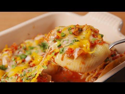 Cheesy Taco Stuffed Shells | Delish