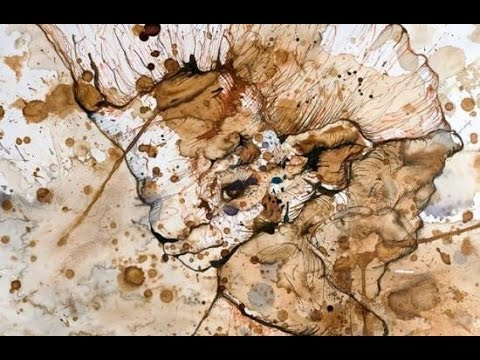 Art from Chaotic Splotches of Tea, Coffee and Juice