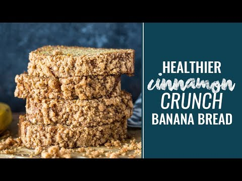 Healthy Cinnamon Crumb Banana Bread