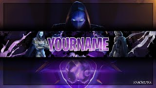 Fortnite Youtube Banner Template Omen Channel Art Photoshop Cs6