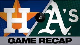 Bregman, Greinke hit milestones in win | Astros-A's Game Highlights 8/18/19