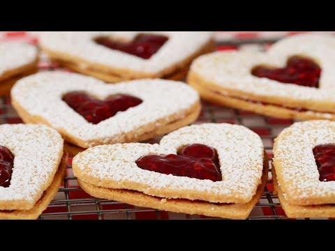 Linzer Cookies Recipe Demonstration - Joyofbaking.com