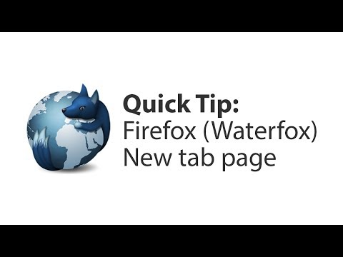Quick Tip: Firefox New tab page