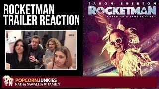 Rocketman (2019 Elton John) Official Trailer - Nadia Sawalha & The Popcorn Junkies Family Reaction
