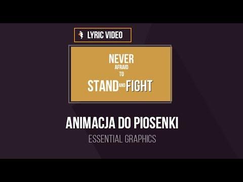 Jak zrobić animację do piosenki? Lyric Video w Adobe Premiere   #1 Premierowe Piątki