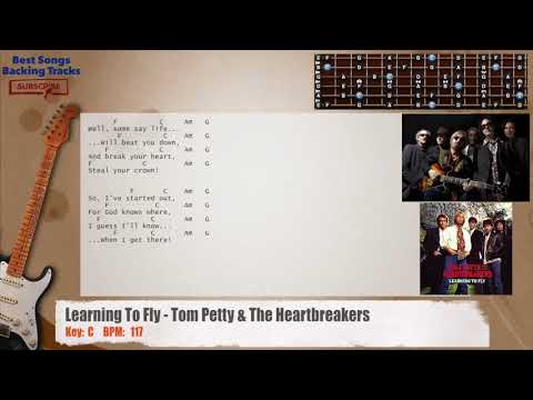 Learning To Fly - Tom Petty & The Heartbreakers Guitar Backing Track with chords and lyrics