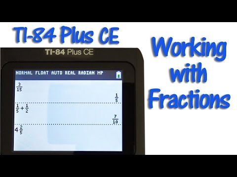 TI 84 Plus CE Working with Fractions