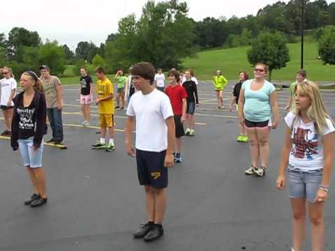 Golden Rockets Marching Band - Band Camp morning PT