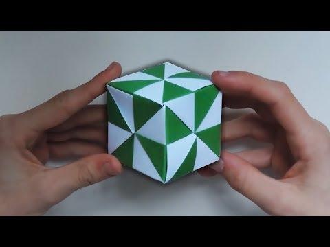 Origami Pinwheel Cube. (Instructions) (Full HD)