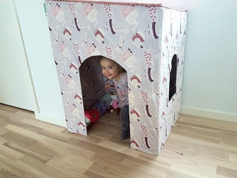 How to build a little wooden kids playhouse