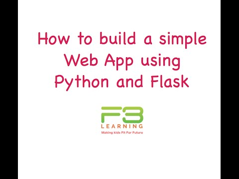 Develop WebApp With Python And Flask - Getting Started