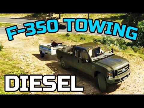 GTA V | F-350 POWERSTROKE | TOWING ATV + RIDING