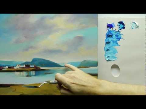 How to paint landscapes: colour mixing acrylics using colour strings