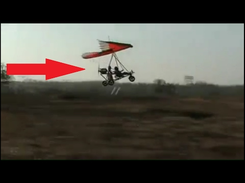 Ultralight aircraft by  INDIAN HANDMADE PLANE Hang Glider Flying In India