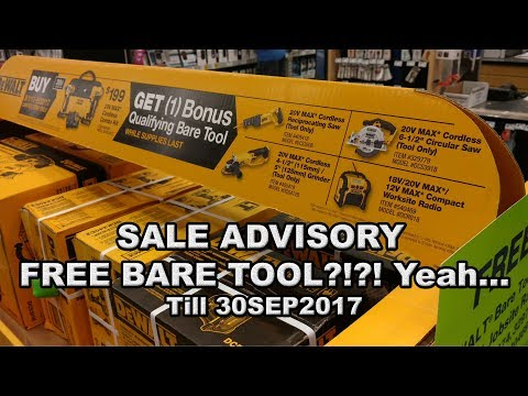 SALE ADVISORY: Lowes has a sweet dewalt sale going on till 30SEP2017