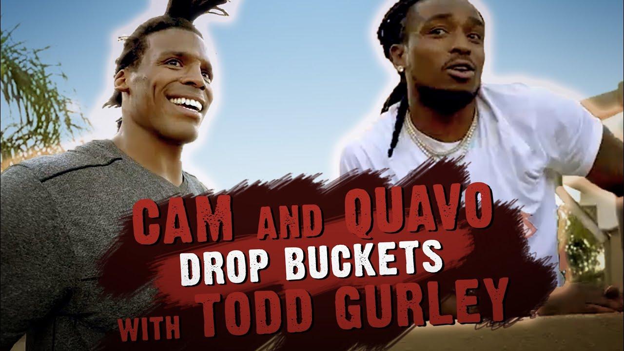Cam Newton & @Quavo Huncho Drop Buckets with Todd Gurley