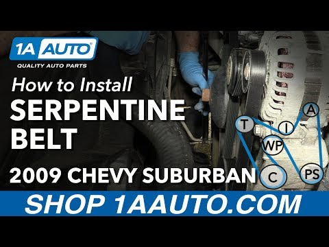 How to Install Replace Serpentine Belt 2007-13 Chevy Suburban