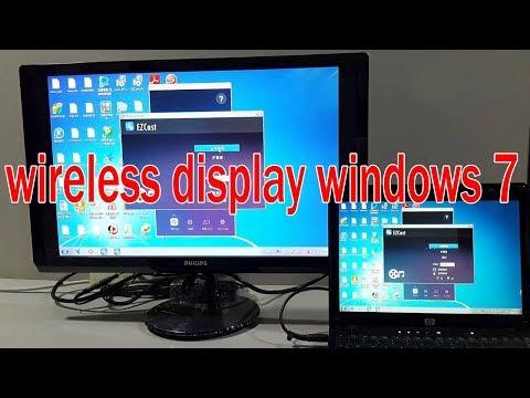 cast laptop to tv Windows 7 hindi || Miracast DLNA  || wireless display 2018