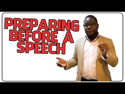 How to Prepare Before a Speech
