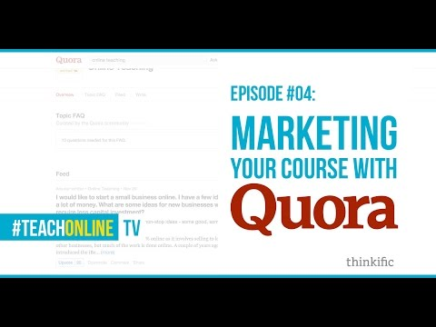 Marketing Your Online Course With Quora