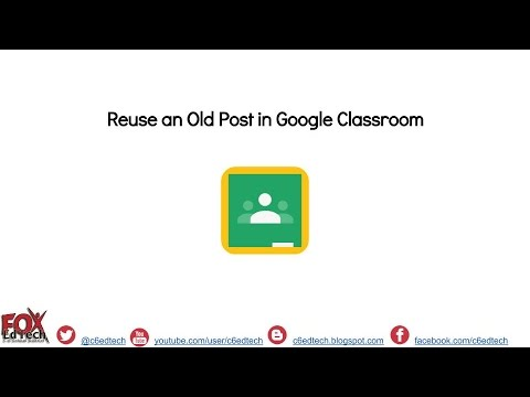 Reuse an Old Post in Google Classroom