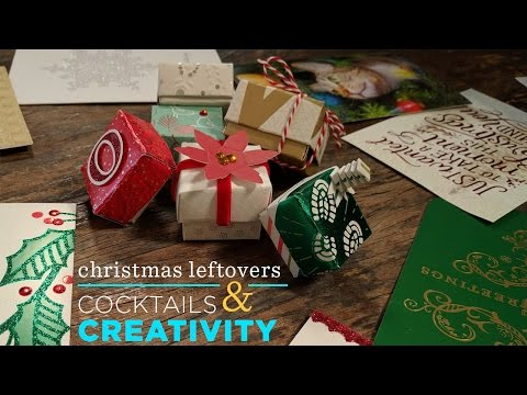Upcycle your Christmas Cards to Tiny Boxes | Cocktails & Creativity