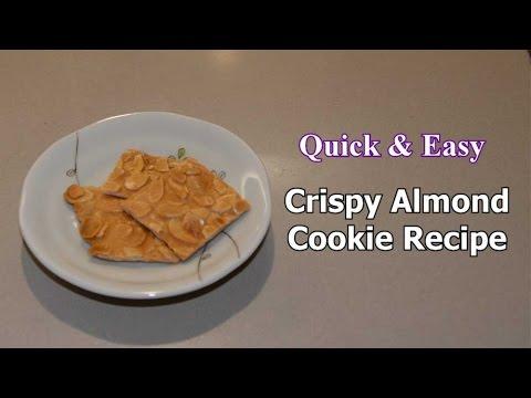 Quick & Easy Crispy Almond Cookie Recipe