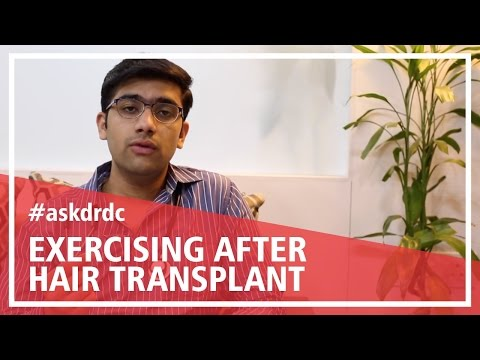 When can you start exercising after FUE Hair Transplant | HairMD, Pune.