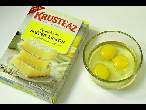 How to Bake Krusteaz Meyer Lemon Bars Supreme Mix