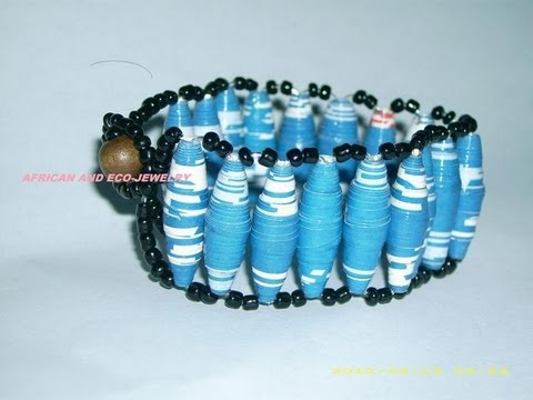 How to make Ladder stitch bracelet using paper beads