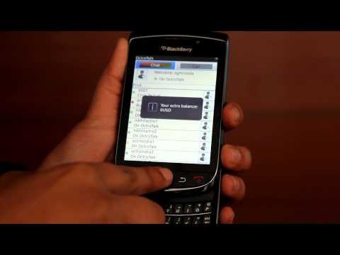 procedure for audio call on octrotalk on blackberry