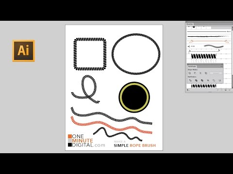 Make an Easy Rope Graphic in Illustrator - Ropey Circles, Squares and Squiggly Lines