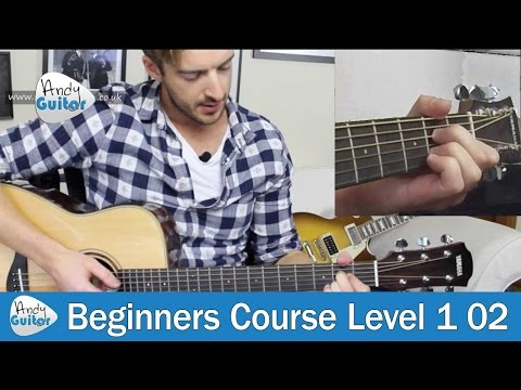 A Major Chord on Guitar (Beginners Course Level 1 lesson 2)