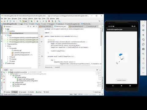 Display animated GIF using ImageDecoder