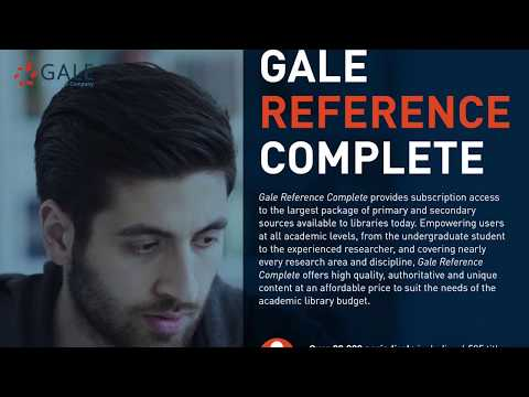 Gale Reference Complete Testimonial Video