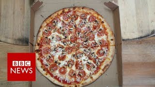 Pizza shop feeding the homeless one slice at a time - BBC News